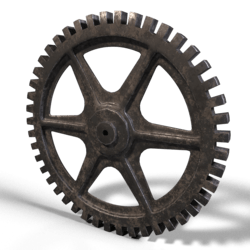 Industrial Gear Weathered