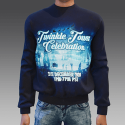 Emissive Twinkle Town Sweater (unisex)