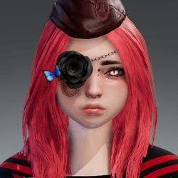 Rose eyepatch right