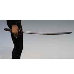 Katana sword named death