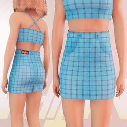 Light Blue Iconic Skirt