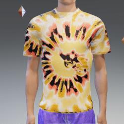 Orange Summer Hip Tie-Dye T-Shirt - Male