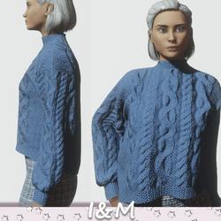 woolen jacket blue