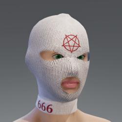 Balaclava - white pentagram female
