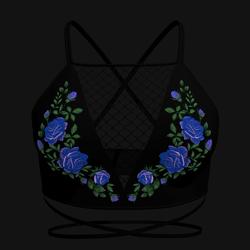 Taradelle Rose Blouse (Blue)