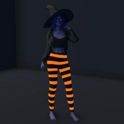 Halloween Leggings Emissive Orange