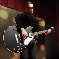Jazz/Blues Guitar Black (Wearable)