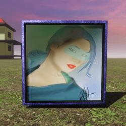 cyberpunk girl painting