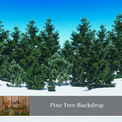 Pine Trees Low Poly Backdrop