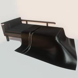 Modern bed - blk