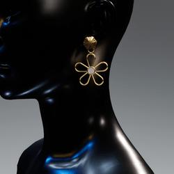 Petunia earrings - gold