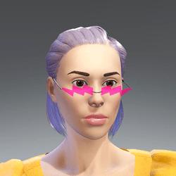 粉色闪电眼镜Pink lightning glasses