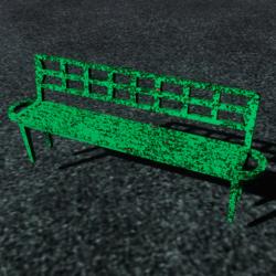 Rusty park bench