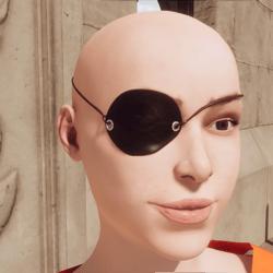Pirate Jolly Roger Eye Patch - Female
