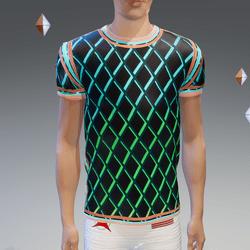Blue 3DNet Athletic Shirt - Male