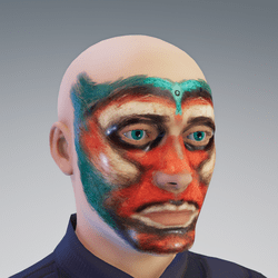 Third eye face painting
