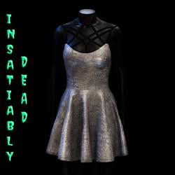 Magica Skater Dress [SILVER]