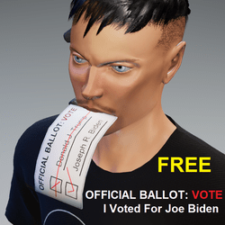 I Voted 4 Biden: Ballot In Mouth