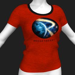 Star Trek Mission Log - Roddenberry T-Shirt - Red - Female