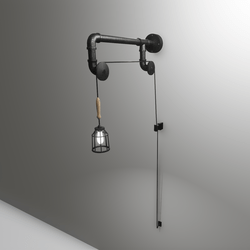 Pulley sconce light lamp