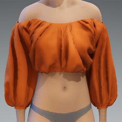 Orange puff top