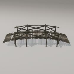 SKYE Mossy Wooden Bridge