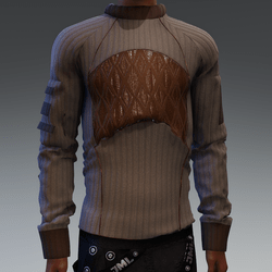 Sweater with Leather detail