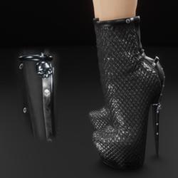 Black moto skully charm boots