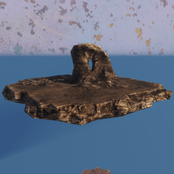 Rock platform with archway 740tris