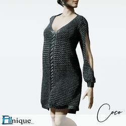 Coco Black Sweater dress cutout arms