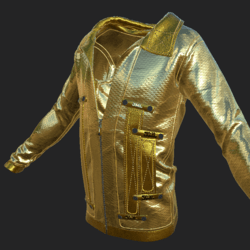 SHUAN JACKET EMISSIVE GOLDEN