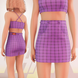 Violet Iconic Skirt