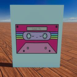 Kawaii Cassette Tape Painting