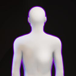 Purple Glowing Aura M