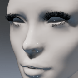 Lashes (feathery and giant!) for the Irene Head by Apocalypse Bunnies 2-sided