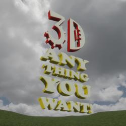 3D Anything (thin)