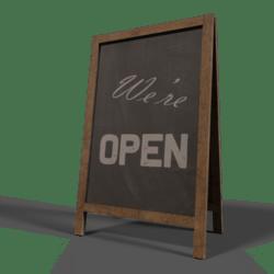 """Chalkboard """"Open"""""""