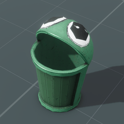 Green Frog Garbage Can