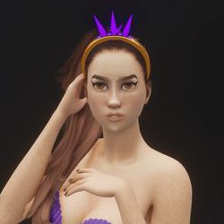 Mermaid Crystal Tiara 01 (Glowing)