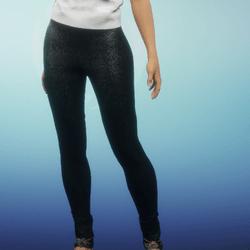 black denim leggings