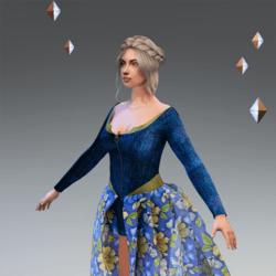 LV Dress Floral Jeans