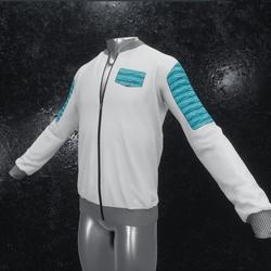 Leather Jacket Ron white blue