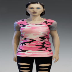 T-Shirt Camouflage with net sleeves
