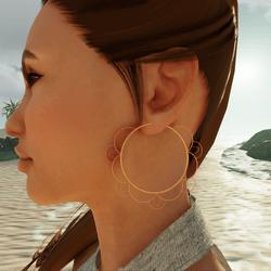 Bohemia Flower Hoop Earrings (Gold)