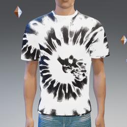 White Glowing Tie-Dye T-Shirt - Male