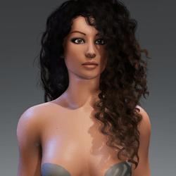 Zoe Curvy Female Avatar