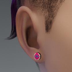 heal ball earrings