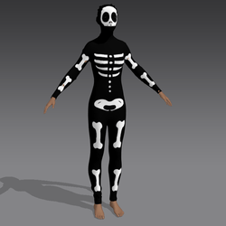 skeleton morph suit onesie costume