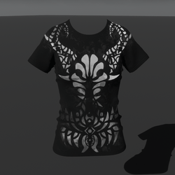 Empowered Demon Smokey (F) T-Shirt (Animated Emissive)
