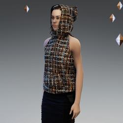'Headspace' Bouclé (φ) Sleeveless Hoodie - Unisex